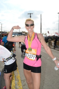 Moments after the finish of my second marathon Dec 7, 2014