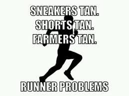 running tan