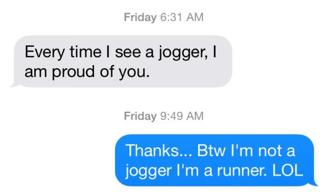 runner not jogger