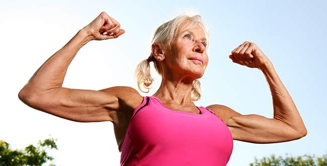 older woman muscles