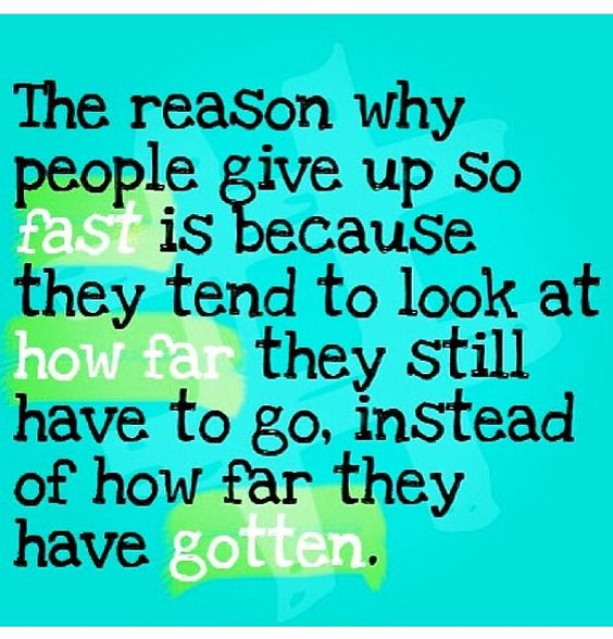 people give up